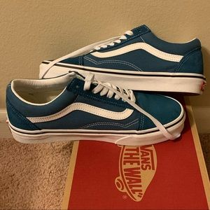 Blue-green old Skool vans